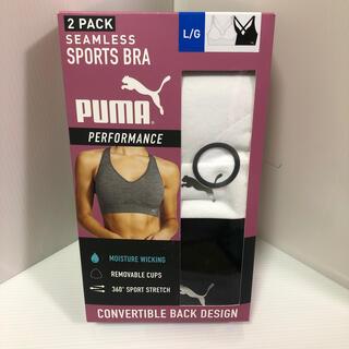 プーマ(PUMA)の新品 PUMA スポーツブラ ブラックとホワイト2点セット サイズ L(ブラ)