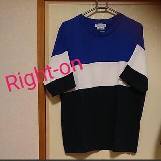 Right-on - ライトオン  メンズ  ボーダーTシャツ