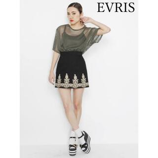 エヴリス(EVRIS)のEVRIS エヴリス メッシュトップス エンブロイダリースカート(セット/コーデ)