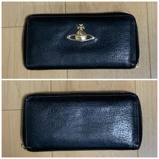 ヴィヴィアンウエストウッド(Vivienne Westwood)のヴィヴィアンウエストウッド 長財布 ラウンド レザー オーブ 黒(財布)
