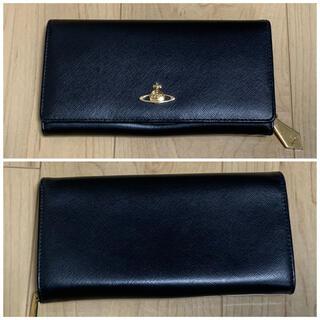 ヴィヴィアンウエストウッド(Vivienne Westwood)のヴィヴィアンウエストウッド 長財布 二つ折り レザー ブラック(財布)