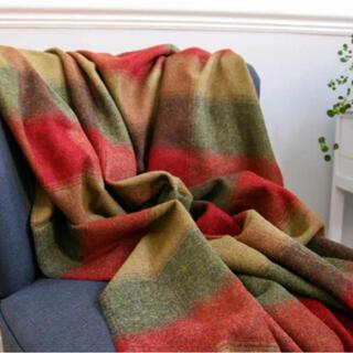 ローラアシュレイ(LAURA ASHLEY)のケズウィックチェック ウールスローブランケット140*185(毛布)