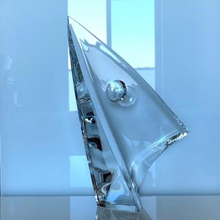 バカラ(Baccarat)の✯ 極レア 高級 Baccarat ヨット 船 クルーザー 海 置物 オブジェ✯(彫刻/オブジェ)