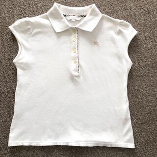 バーバリー(BURBERRY)のバーバリー 150A ガール 白ポロシャツ(Tシャツ/カットソー)