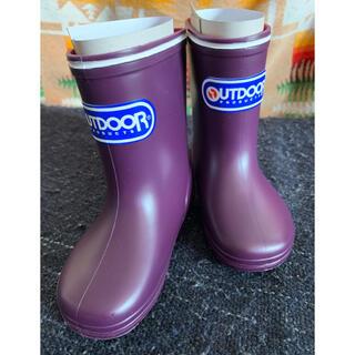 アウトドアプロダクツ(OUTDOOR PRODUCTS)のet様専用 outdoor  kids  レインブーツ 13㎝ パープル(長靴/レインシューズ)