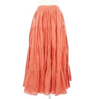 ユナイテッドアローズ(UNITED ARROWS)のユナイテッドアローズ 2018 コットンティアードマキシスカート ピンク系 36(ロングスカート)
