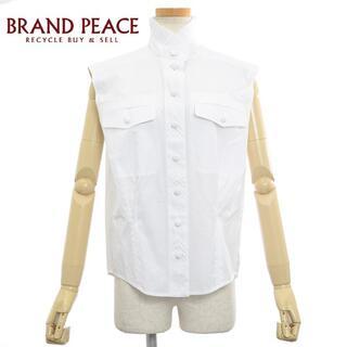 ルイヴィトン(LOUIS VUITTON)のルイ・ヴィトン ブラウス ノースリーブ 刺繍 コットン ホワイト サイズ34(シャツ/ブラウス(半袖/袖なし))