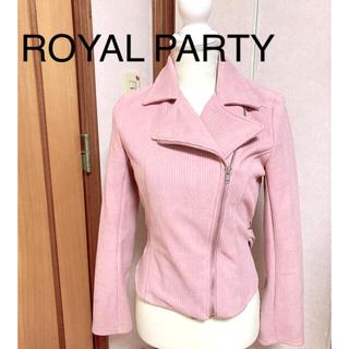 ロイヤルパーティー(ROYAL PARTY)のROYAL PARTY ロイヤルパーティー ピンクライダースジャケット(ライダースジャケット)