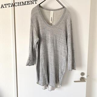 アタッチメント(ATTACHIMENT)のATTACHMENT アタッチメント 7分袖 Tシャツ(Tシャツ/カットソー(七分/長袖))