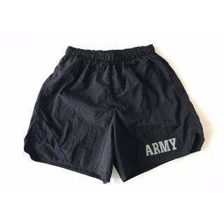 ハリウッドランチマーケット(HOLLYWOOD RANCH MARKET)の【希少】米軍/US ARMY『ミリタリーリフレクターショートパンツ』黒/水陸両用(ショートパンツ)