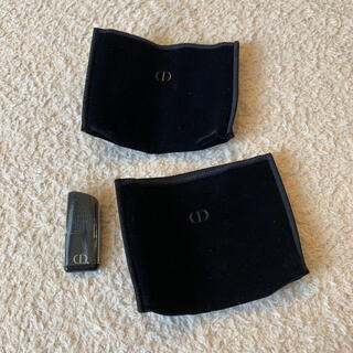 Christian Dior - ディオール チーク用ブラシと布ケース