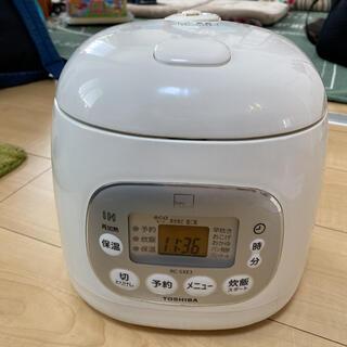 トウシバ(東芝)の東芝 IH保温釜 3合炊き RC-5XE8 KB  炊飯器(炊飯器)