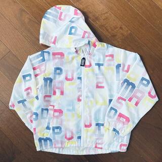 ジディー(ZIDDY)の【美品】ZIDDY ロゴ柄 ジップアップパーカージャケット  (ジャケット/上着)