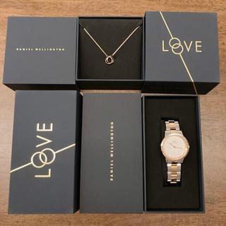ダニエルウェリントン(Daniel Wellington)の【試し付けのみ】ダニエルウェリントン腕時計&新作ネックレスセット バレンタイン(腕時計(アナログ))