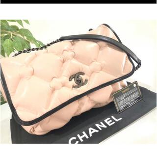 シャネル(CHANEL)の極美品 シャネル レザー バブルキルト マトラッセ ダブルチェーン ショルダー(ショルダーバッグ)