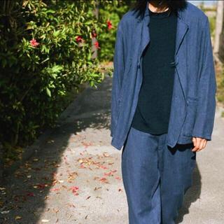 コモリ(COMOLI)のコモリ フレンチブルー スタンドカラー ジャケット サイズ2(ノーカラージャケット)