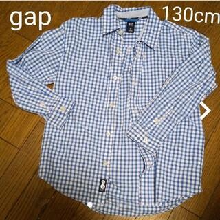 ギャップキッズ(GAP Kids)のGAP KIDS  長袖チェックシャツ 130cm size8(Tシャツ/カットソー)