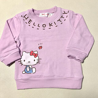 ハローキティ(ハローキティ)のハローキティ Hello Kitty トレーナー ラベンダー 80サイズ(トレーナー)