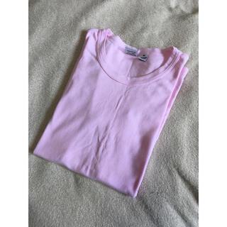 オルタナティブ(ALTERNATIVE)の美品 オルタナティブアパレル ピンクTシャツ 無地 シンプル(Tシャツ(半袖/袖なし))