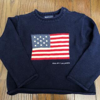 POLO RALPH LAUREN - ポロラルフローレン 星条旗 ニット セーター  12M-24M 80 90