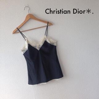 クリスチャンディオール(Christian Dior)のタグ付き未使用*Christian Dior*レースキャミソール*古着(キャミソール)