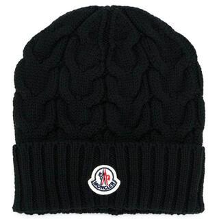 MONCLER - モンクレール ニット帽 ブラック 54㎝