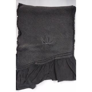 兵児帯 総絞り 正絹 男物 濃いグレー 高級品(浴衣帯)