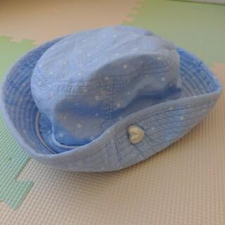 マザウェイズ(motherways)のマザウェイズ motherways帽子 56cm 小花柄水色(帽子)