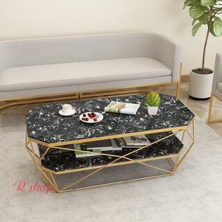 高級大理石ローテーブル .センターテーブル テーブル 北欧風サイドテーブル(ローテーブル)
