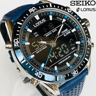 セイコー(SEIKO)の【大人気】セイコーローラス/SEIKO LORUS 男性メンズ 腕時計 ネイビー(レザーベルト)