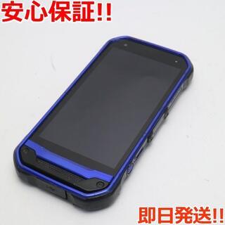 キョウセラ(京セラ)の良品中古 au TORQUE G03 ブルー 白ロム(スマートフォン本体)