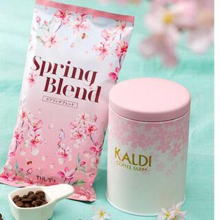 カルディ(KALDI)のKALDI さくらキャニスター缶とコーヒーセット(コーヒー)