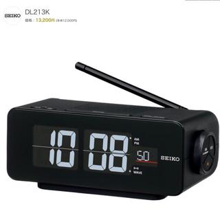 セイコー(SEIKO)のセイコークロック 置き時計 黒 DL213(置時計)