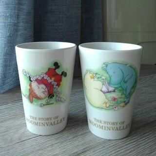 「THE STORY OF MOOMIN VALLEY」陶器のカップ2個セット(グラス/カップ)