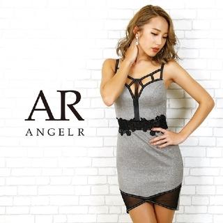 エンジェルアール(AngelR)のAngleR ウエストフラワーレースタイトミニドレス (ミニワンピース)