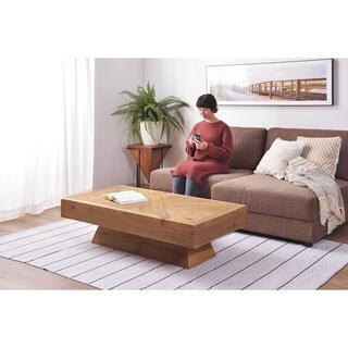 【在庫限り】天然木(パイン)の古材仕様 センターテーブル 無垢材(ローテーブル)