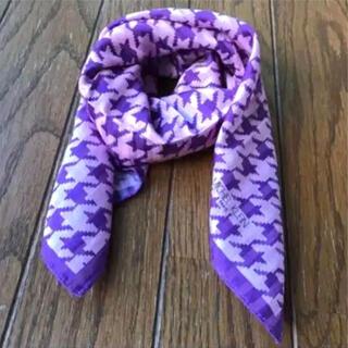 ミッシェルクラン(MICHEL KLEIN)の新品 千鳥格子 グレンチェック シルクスカーフ(バンダナ/スカーフ)