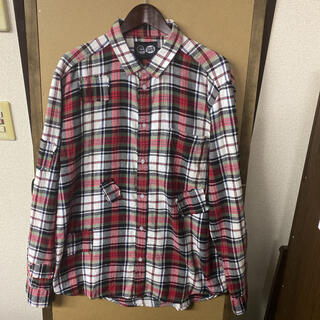 チープマンデー(CHEAP MONDAY)の【美品】インポート古着 CHEAP MONDAY デザイン チェックネルシャツ (シャツ)