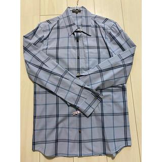 アタッチメント(ATTACHIMENT)のATTACHMENT チェックシャツ 青色(シャツ)