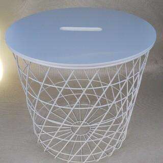 KVISTBRO クヴィストブロー 収納テーブル, ホワイト(ローテーブル)