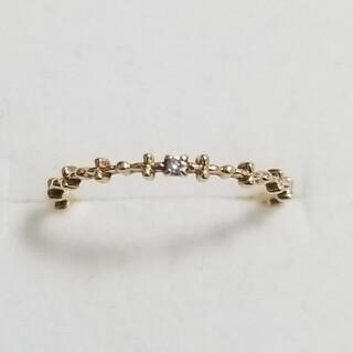 ジュピターゴールドレーベル(jupiter GOLD LABEL)の【ジュピター】K10YG ダイヤモンドピンキーリング(リング(指輪))