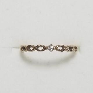 エテ(ete)の【ジュエッテ】K10YG ダイヤモンドピンキーリング(リング(指輪))