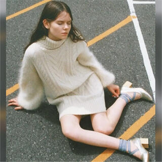 ファーファー(fur fur)の新垣結衣さん着用 FURFURゲージミックスワンピース(ひざ丈ワンピース)