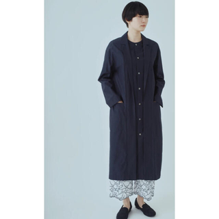 mina perhonen - ミナペルホネン  sol  mou スプリングコート ネイビー38 新品