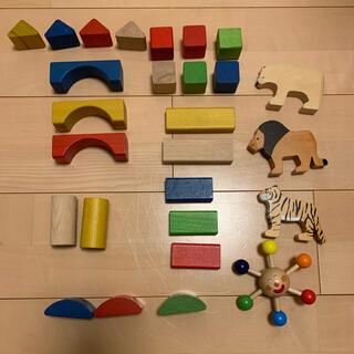 ブリオ(BRIO)のBRIO 積み木 動物 木製 おもちゃセット(積み木/ブロック)