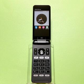 キョウセラ(京セラ)のSIMフリー KYF31 GRATINA 4G 56 ブラック 京セラ au(携帯電話本体)