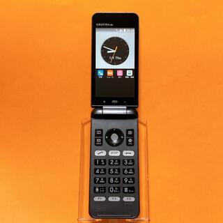 キョウセラ(京セラ)のSIMフリー KYF31 GRATINA 4G 58 ブラック 京セラ au(携帯電話本体)
