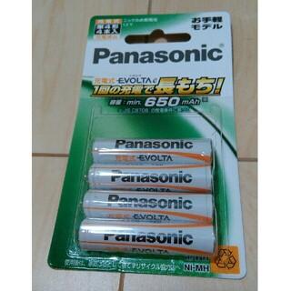 パナソニック(Panasonic)のPanasonic 充電式 単4電池 エボルタ 4本入(その他)