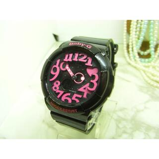 カシオ(CASIO)のカシオ CASIO Baby-G ブラック&ピンク レディース ウォッチ(腕時計)