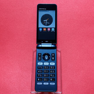 キョウセラ(京セラ)のSIMフリー KYF31 GRATINA 4G 60 ブラック 京セラ au(携帯電話本体)